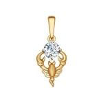 Подвеска «Знак зодиака Скорпион» из красного золота 034957