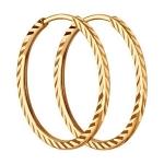 Серьги из золота с алмазной гранью SOKOLOV 140011-9