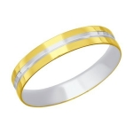 Кольцо из желтого золота с алмазной гранью 110208-2