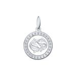 Подвеска «Знак зодиака Рыбы» из серебра 94031394
