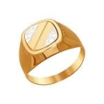 Печатка из золота с алмазной гранью 011280