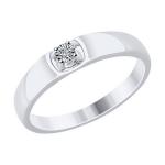 Кольцо из белого золота 1110196