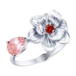 Кольцо из серебра с фианитами 94012786