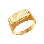 Печатка из золота с алмазной гранью 012426