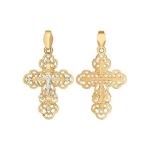 Крест из золота с фианитами 121288