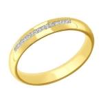 Кольцо из желтого золота с фианитами 110148-2