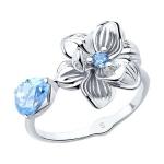 Кольцо из серебра с фианитами 94012785