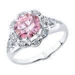 Кольцо из серебра с фианитами 94012759