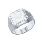 Печатка из серебра с алмазной гранью 94011234