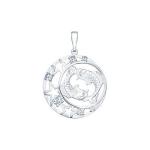 Подвеска знак зодиака из серебра с фианитами 94030097