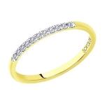 Кольцо из желтого золота с бриллиантами 1113248-01