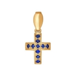 Крест из золота с сапфирами 2120012