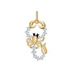 Золотая подвеска «Знак зодиака Скорпион» 035130