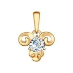 Подвеска «Знак зодиака Овен» из красного золота 034954
