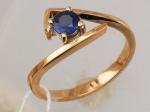 Кольцо с изумрудом из бело-красного золота