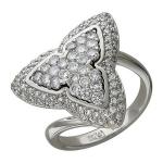 Кольцо с бриллиантом из белого золота