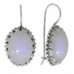 Cерьги Deno из серебра с лунным камнем 01E2263MS