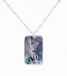 Колье Deno из серебра с бирюзой 01N3835TQ