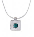 Колье Deno из серебра с бирюзой 01N110TQ