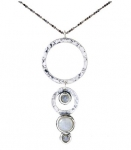 Колье Deno из серебра с лунным камнем 01N753MS