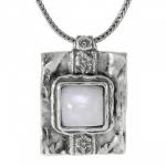 Колье Deno из серебра с лунным камнем 01N696MS