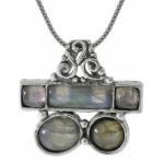 Колье Deno из серебра с лабрадором 01N3893LB