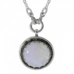 Колье Deno из серебра с лунным камнем 01N3632MS