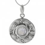 Колье Deno из серебра с лунным камнем MVN1532MS
