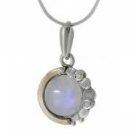 Колье Deno из серебра с лунным камнем MVN1536GMS