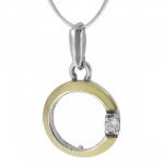 Колье Deno из серебра с золотом MVN1518GCZ