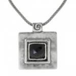 Колье Deno из серебра с ониксом 01N066ON