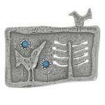 Брошь Deno из серебра с бирюзой 01CBR059TQ