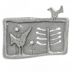 Брошь Deno из серебра с жемчугом 01CBR059PL