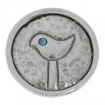Брошь Deno из серебра с бирюзой 01CBR036TQ