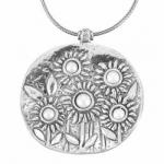 Колье Deno из серебра с жемчугом 01N1859PL