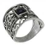 Кольцо Deno из серебра с ониксом 01R681ON