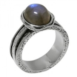 Кольцо Deno из серебра с лабрадором 01R1931LB