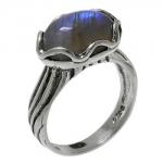 Кольцо Deno из серебра с лабрадором 01R1789LB