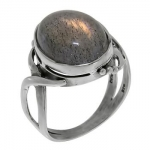 Кольцо Deno из серебра с лабрадором MVR1380LB