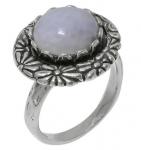 Кольцо Deno из серебра с лунным камнем 01R2059MS