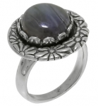 Кольцо Deno из серебра с лабрадором 01R2059LB