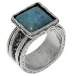 Кольцо Deno из серебра с бирюзой 01R1782TQ