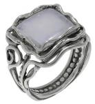 Кольцо Deno из серебра с лунным камнем 01R1759MS