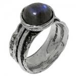 Кольцо Deno из серебра с лабрадором 01R1761LB
