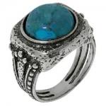 Кольцо Deno из серебра с бирюзой 01R1963TQ