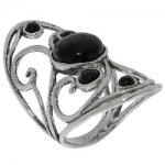 Кольцо Deno из серебра с ониксом 01R2087ON