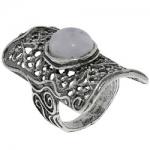 Кольцо Deno из серебра с лунным камнем 01R2100MS