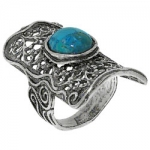 Кольцо Deno из серебра с бирюзой 01R2100TQ