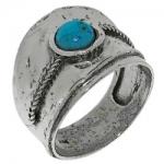 Кольцо Deno из серебра с бирюзой MVR1331TQ