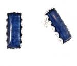 Серьги Deno из серебра с кианитами 01E3010KT
